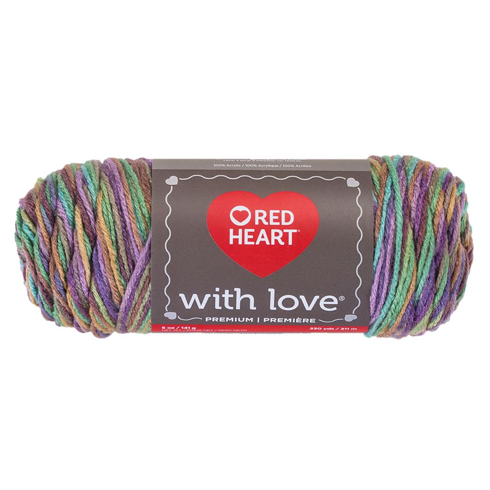 Red Heart Yarn With Love Variegated 1816 Waterlily