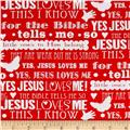 Jesus Loves Me 2 Words Red