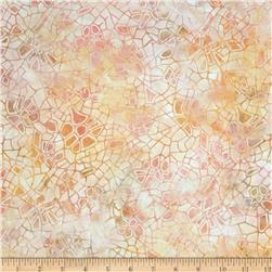Batavian Batiks Crackle Sweet Peach