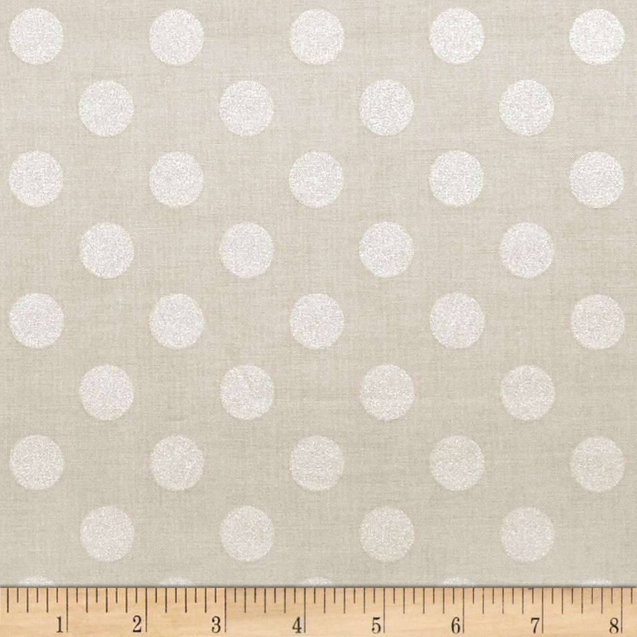 Riley Blake Hollywood Sparkle Medium Dot Grey