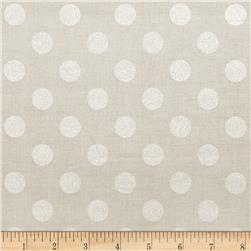 Riley Blake Hollywood Sparkle Medium Dot Grey Fabric