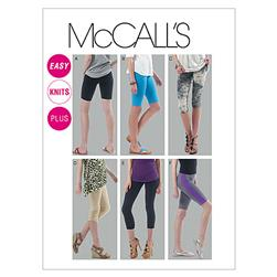 McCall's Misses'/Women's Leggings In 4 Lengths Pattern M6360 Size A50