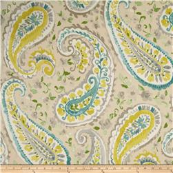 P Kaufmann Watercolors Paisley Twill Mist Fabric