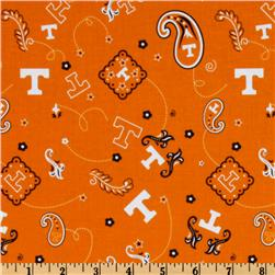 Collegiate Cotton Broadcloth University of Tennessee Bandana Orange