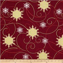 Christmas Spectacular Metallic Winter Stars Red White