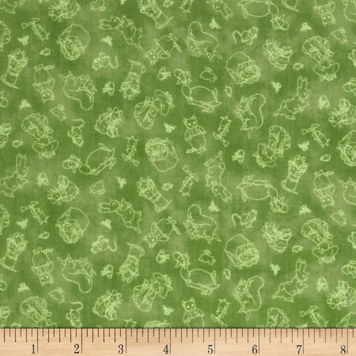 Garden Tales Tiny Toile Green