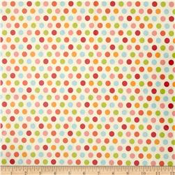 Riley Blake Just Dreamy 2 Laminate Dots Cream