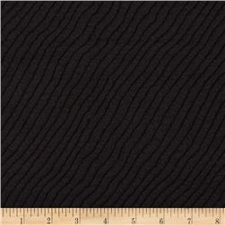 Stretch Knit Waves Quilt Black