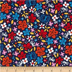 Robert Kaufman Cherry Blossom Garden Small Flowers Bright