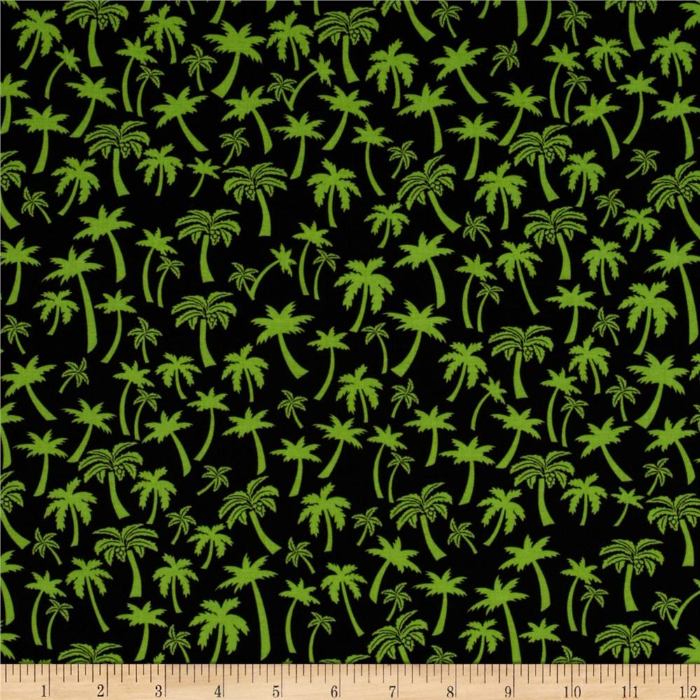 Flamingo Road Palm Tree Black/Green
