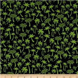 Flamingo Road Palm Tree Black/Green Fabric