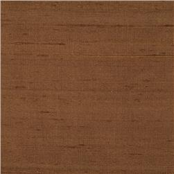 Dupioni Silk Fabric Iridescent Espresso Brown
