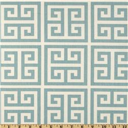 Premier Prints Towers Village Blue/Natural Fabric