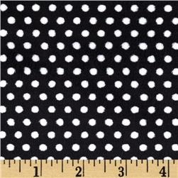 Shannon Minky Cuddle Swiss Dot Black/Snow