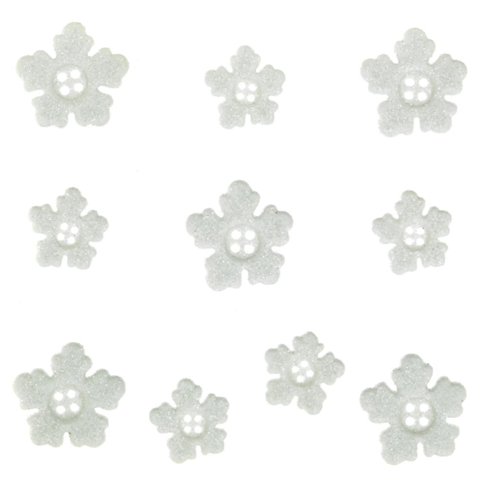 Dress It Up Embellishment Buttons Chunky Snowflakes