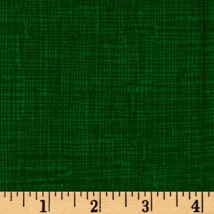 Timeless Treasures Sketch Flannel Emerald
