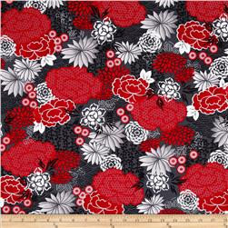 Kanvas Little Harajuku Blossoms Grey/Red