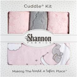 Lullaby Minky Cuddle Blanket Kit Lucky Star Blush