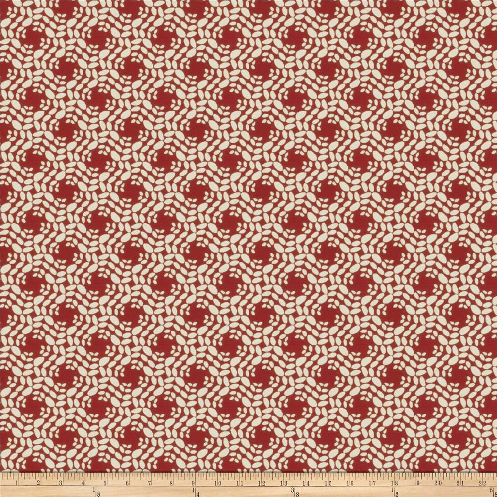 Fabricut No Doubt Jacquard Red