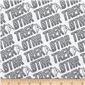 Star Trek Flannel Words White