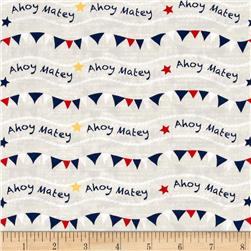 Ahoy Matey Flags Cream