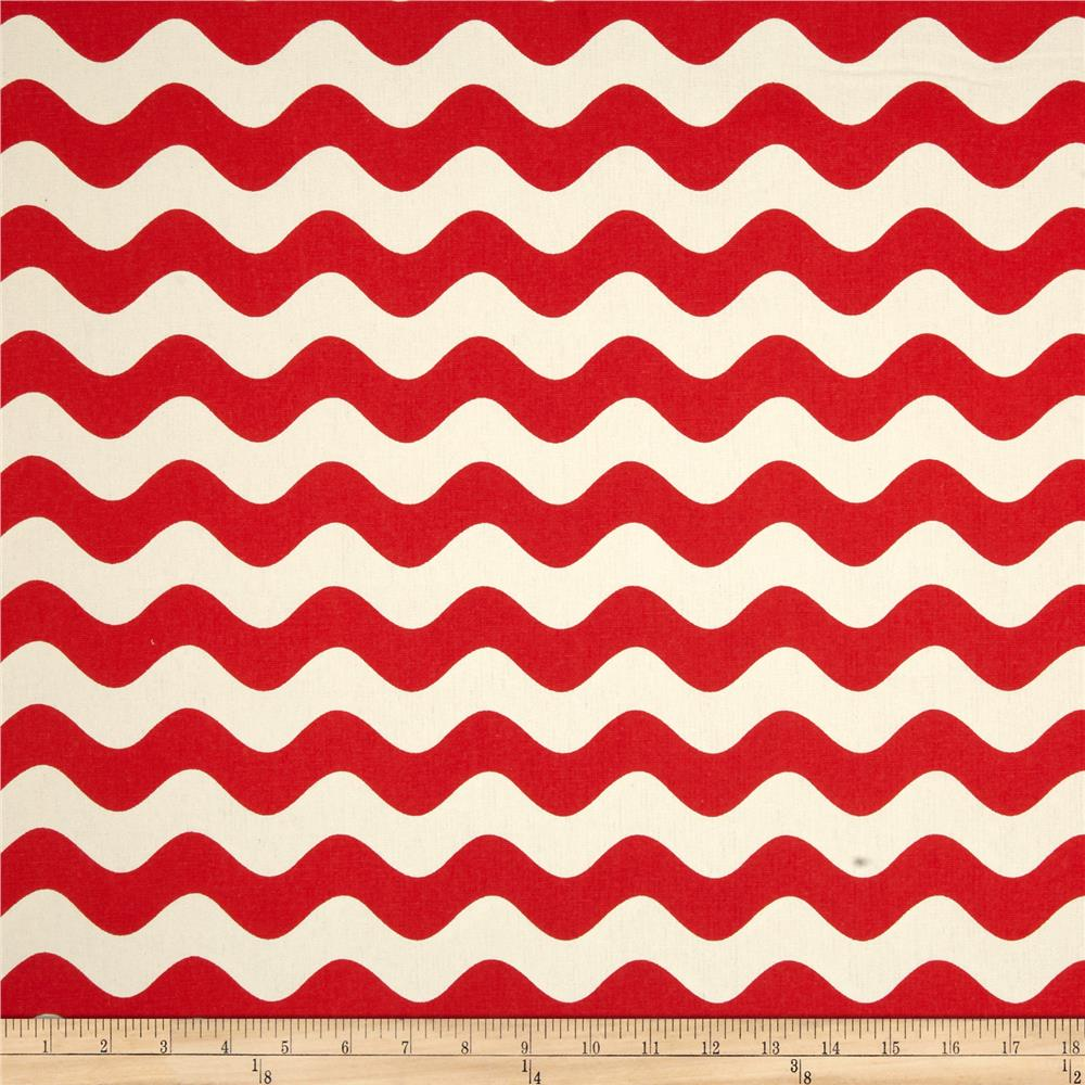 Riley Blake Home Decor Wave Red