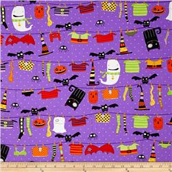 Stitch Witchy Haunts Halloween Closeline Purple