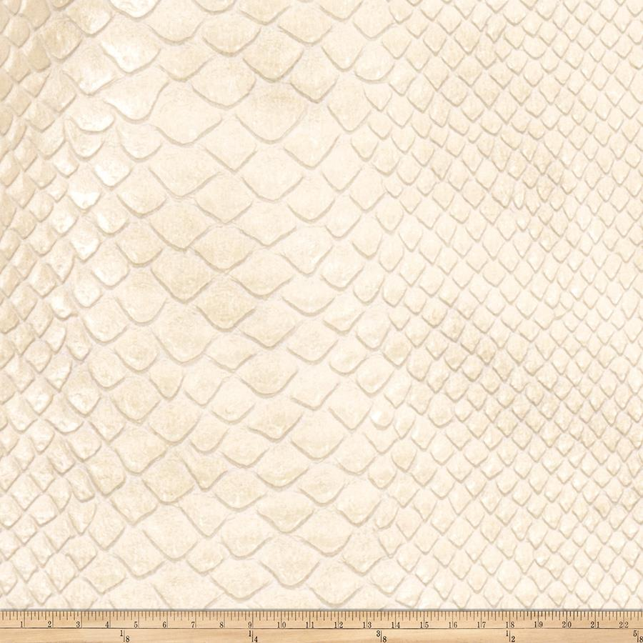 Fabricut Brass Faux Leather Pearl