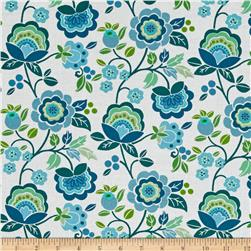 Intrigue Large Floral Teal
