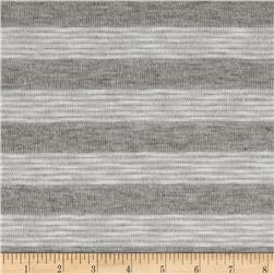 Stretch Needle Out Hatchi Knit Stripes Grey/White Fabric
