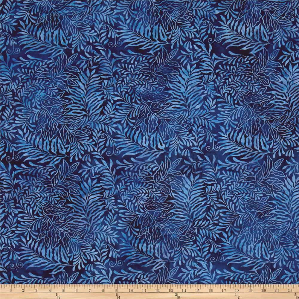 Island Batik Fern Dark Blue