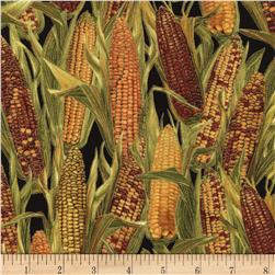 Timeless Treasures Golden Harvest Metallic Corn