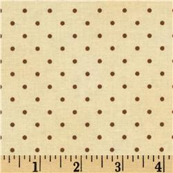 Home Essentials Dots Cream/Brown