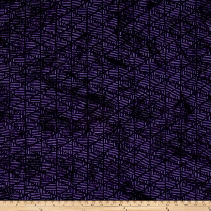 Island Batik Triangles Dark Purple