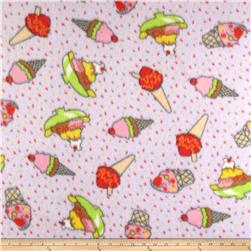 Fleece Print Ice Cream Lilac