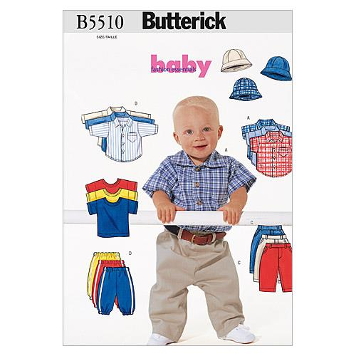 Butterick Infants' Shirt, T-Shirt, Pants and Hat Pattern