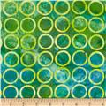 Michael Miller Batiks Whirlpool Ring Dot Caribbean Green