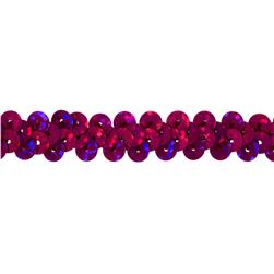 3/8'' Hologram Stretch Sequin Trim Magenta