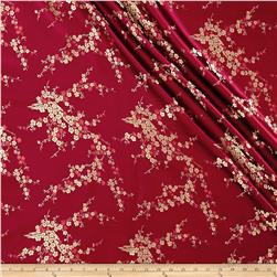 Chinese Brocade Floral Burgundy/Gold/Red