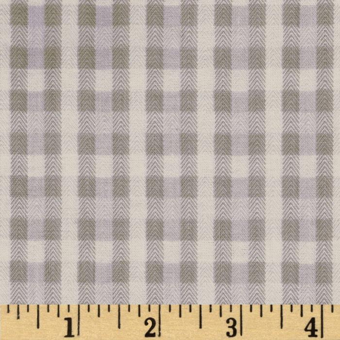 Baby Business Herringbone Plaid Light Grey