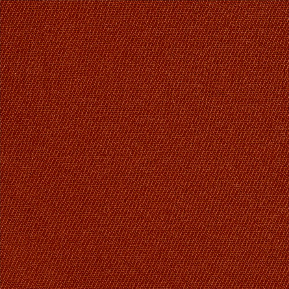 Kaufman Ventana Twill Solid Brick Brown