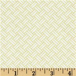 Oriental Traditions Metallic Trellis Weave Ivory