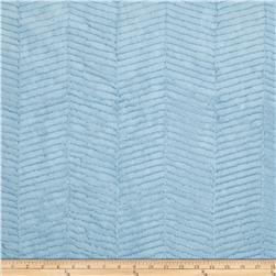 Minky Chevron Snuggle Light Blue Fabric