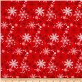 Natalie Alex Snow Delightful Snowflakes Red