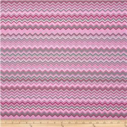 A.E. Nathan Chevron Pink/Grey/White
