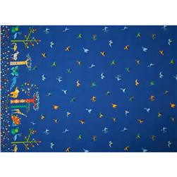 "Oragami Oasis Oasis Border 24"" Repeat Blueberry"