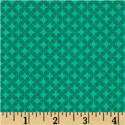 Michael Miller Tiny Tiles Teal Fabric