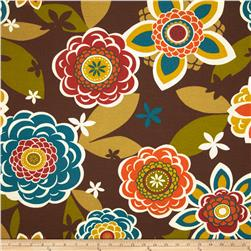 Richloom Solarium Outdoor Annie Chocolate Home Decor Fabric