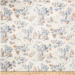 Jaclyn Smith Toile Blend Cobalt