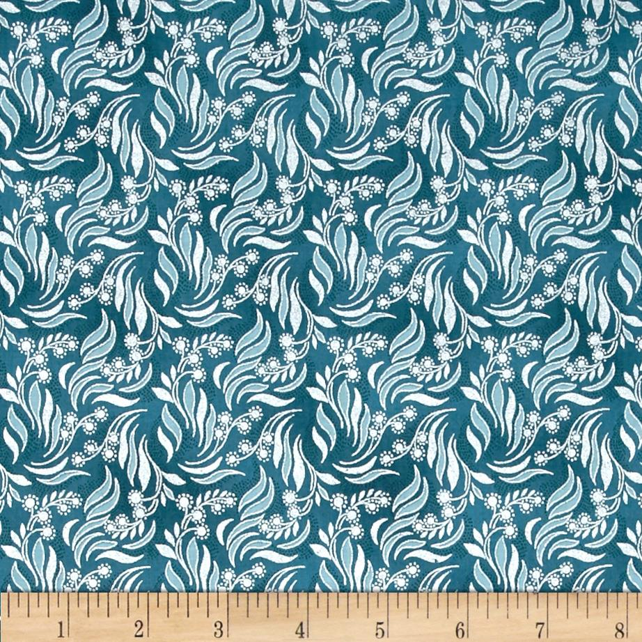 Mary May Metallic Packed Vine Teal/Silver